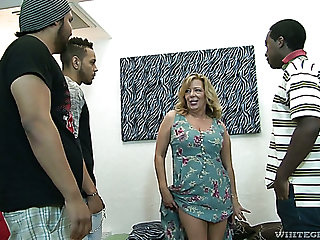 Raunchy mature slut Karen Summer gets gangbanged like never before