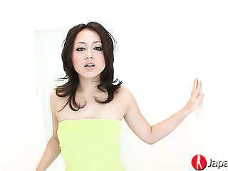 Naughty Japanese hottie Rui Natsukawa needs some good masturbation