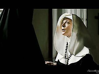 Meet a horny nun Nina Hartley who doesn't mind eating wet pussy