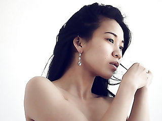 Quite hardening solo nude show performed by lovely Asian nympho Emma