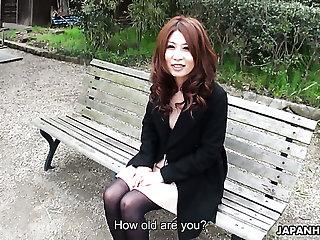 Beautiful horn-mad Japanese Sachi Suzuki masturbates in front of her client